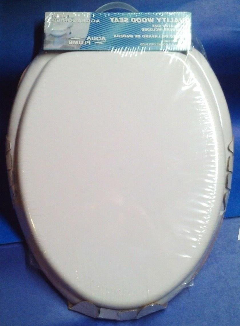 Aqua Plumb CTS104W Wood Seat White New Sealed