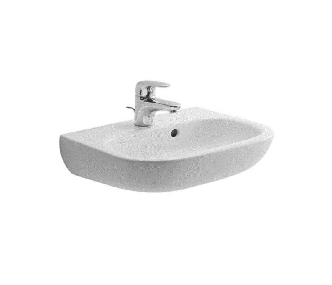 "Duravit D-Code Ceramic 18"" Wall Mount Bathroom Sink with Ove"