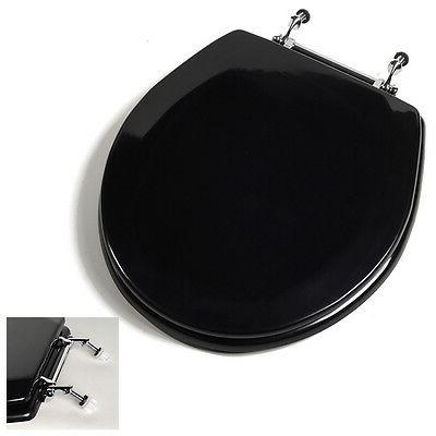 Deluxe Black Round Toilet Adjustable Hinges
