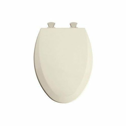 deluxe molded wood elongated toilet seat finish