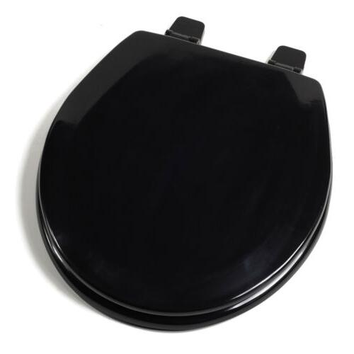 deluxe molded wood seat black round closed