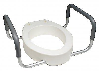 Lumex Deluxe Non Elongated Toilet Seat Round Riser