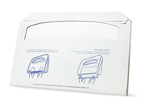 Paper Seat - - Half-Fold Toilet Seat - - Pack x