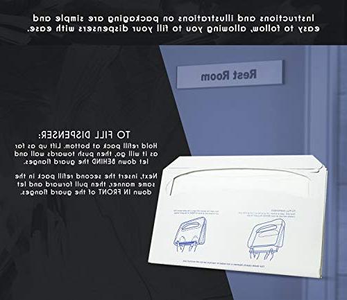 Paper Toilet - - Toilet Dispensers - White Pack x