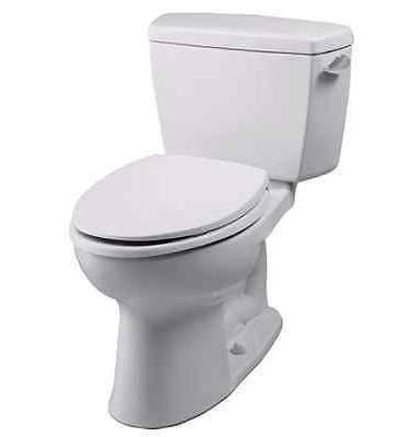 Toto Drake Elongated Two Piece Toilet CST744SL#01 Cotton Whi