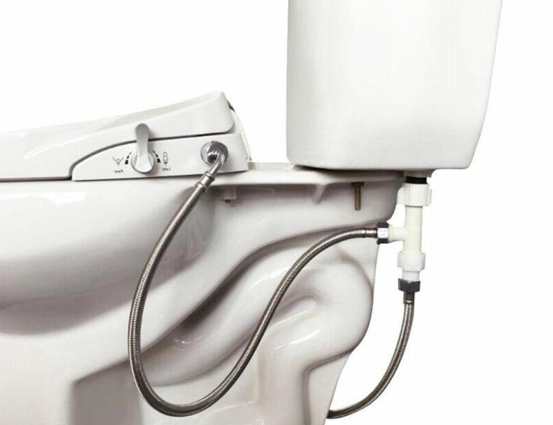 Dual Nozzle Elongated Bidet Seat, Sleek