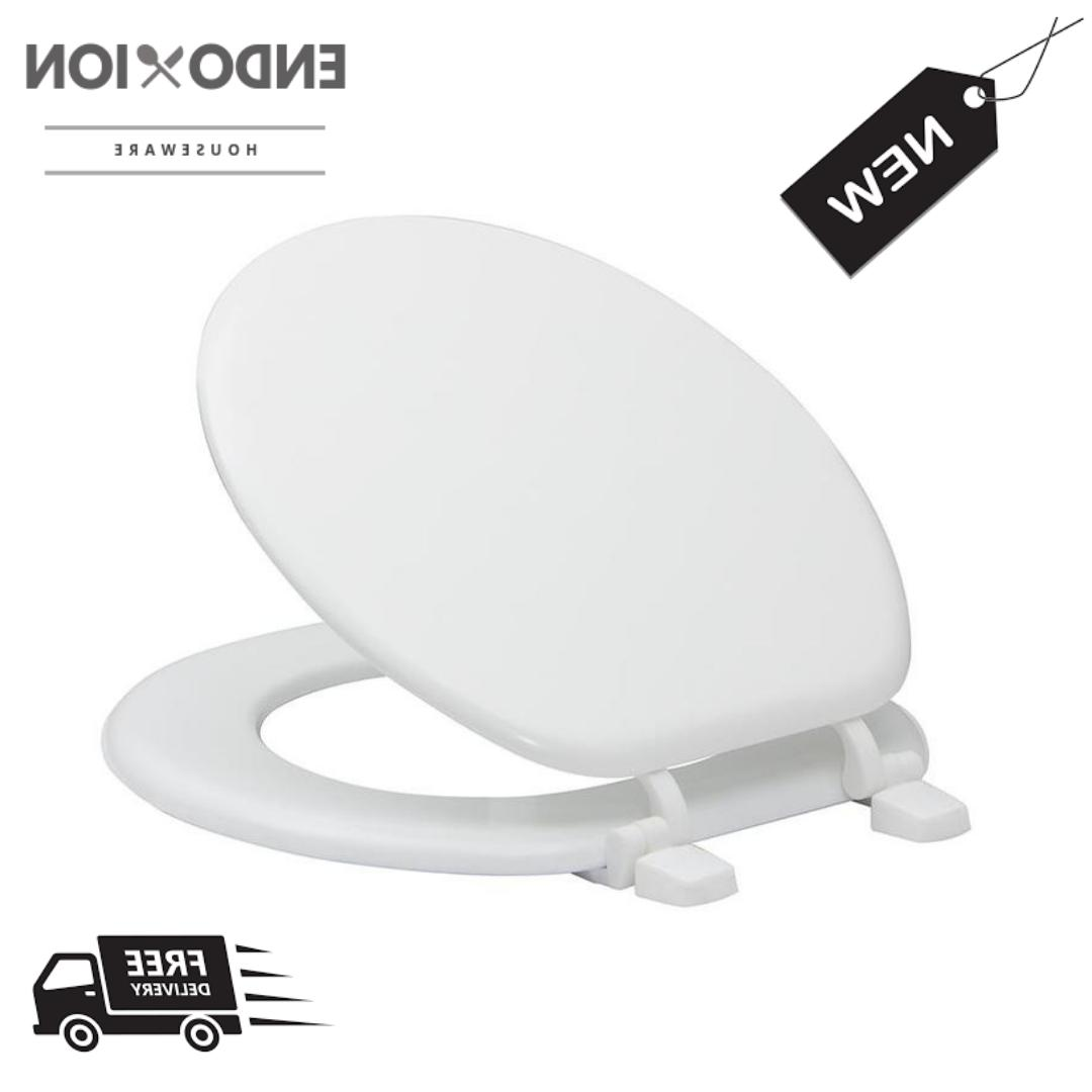 durable round toilet seat white round wood