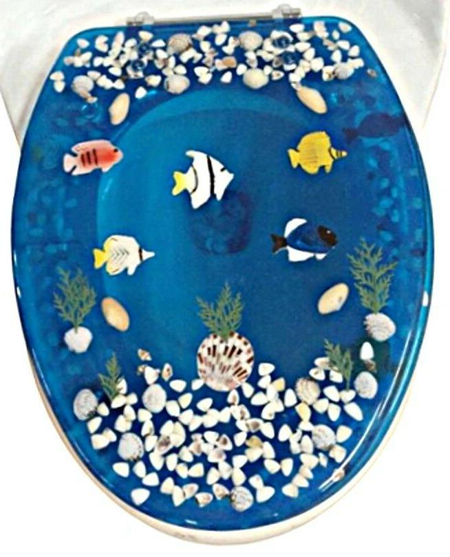 elongated fish aquarium acrylic oval shaped toilet