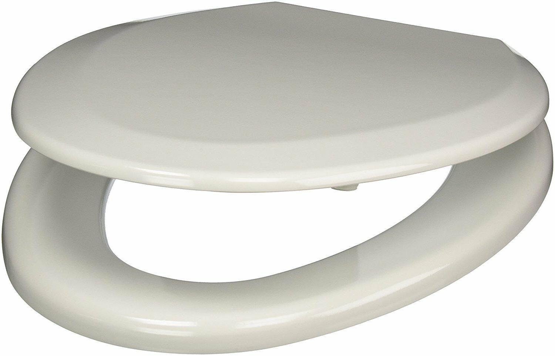 Comfort Seats Elongated Premium Wood Toilet Seat - White w/