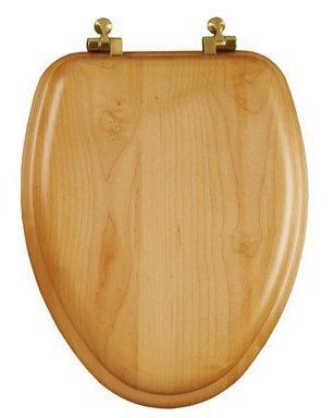 elongated toilet seat oak