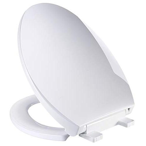elongated white toilet seat