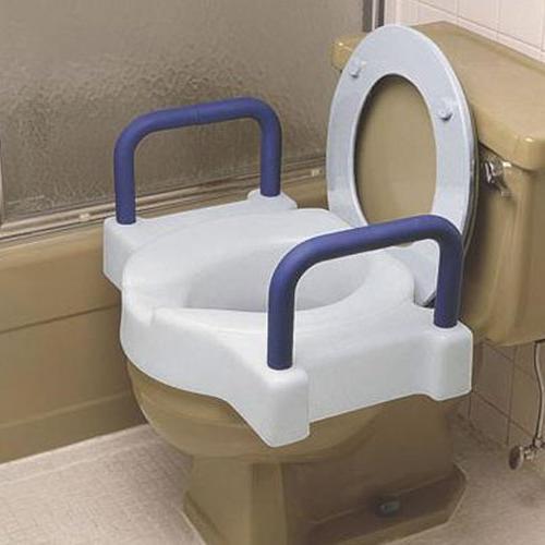Extra Raised Toilet Seat : Aluminum
