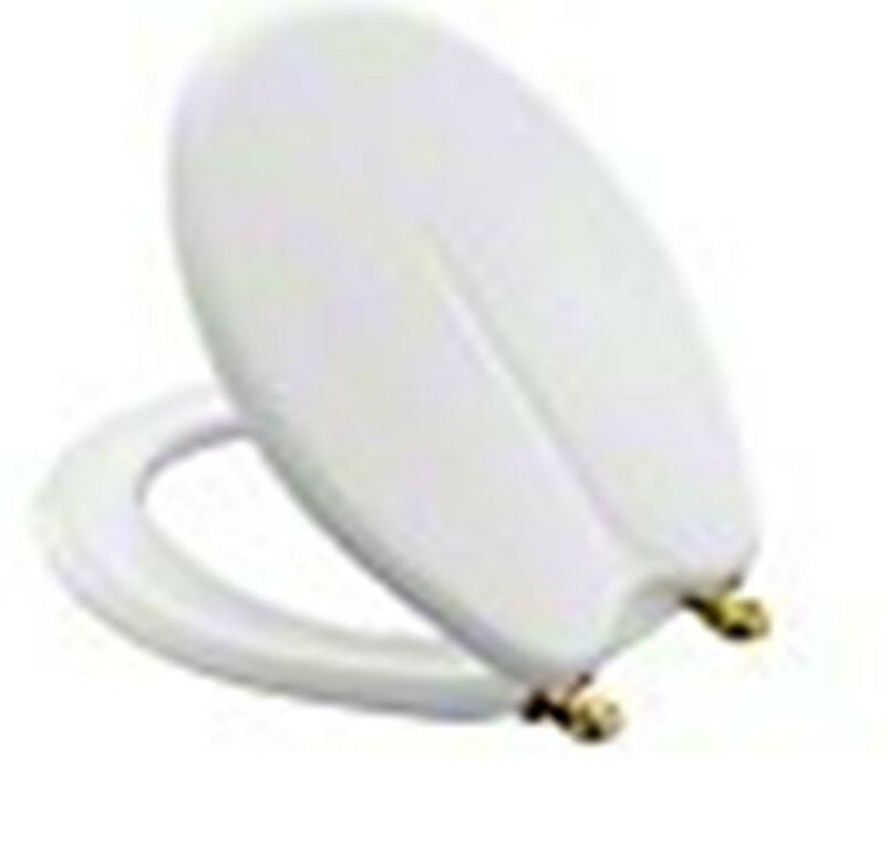fleur toilet seat white with brass hinges