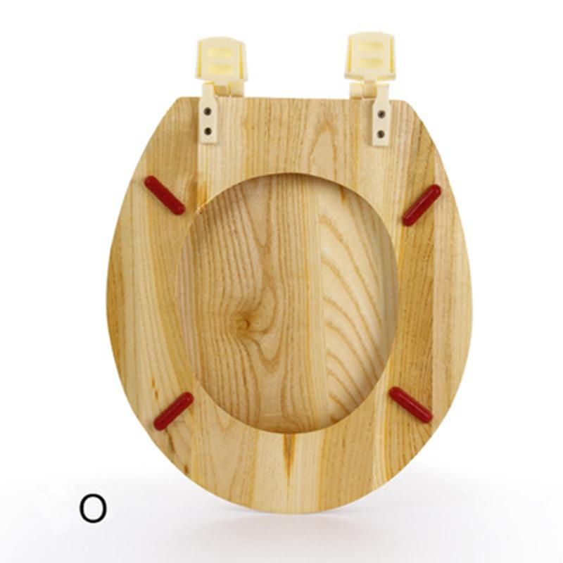 <font><b>Toilet</b></font> Cover Safety Covers Pure Wood Thickening Solid Lid