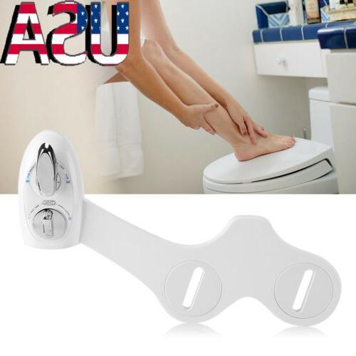 Dual Nozzle Cold Water Spray Non-Electric Bidet Toilet Seat