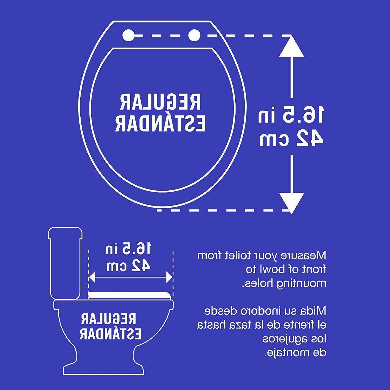 Ginsey Standard Resin Toilet Seat Chrome Hinges Gold Bathroom Decor