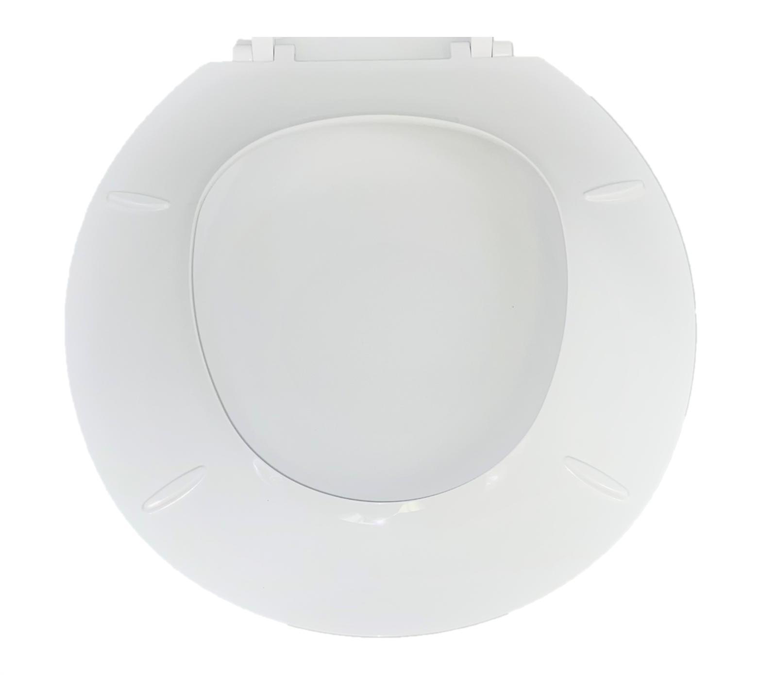 Toilet Seat With Round - White