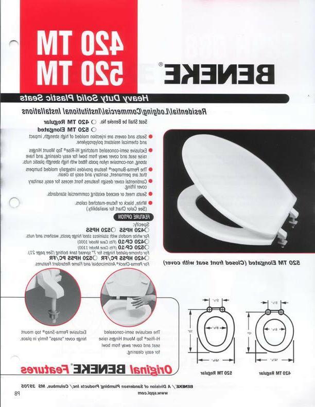 Beneke Heavy Duty Plastic Round Front Seat 420 -