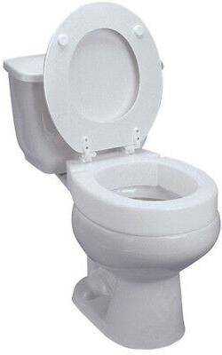 DMI Hinged Elevated Toilet Seat Riser, Elongated