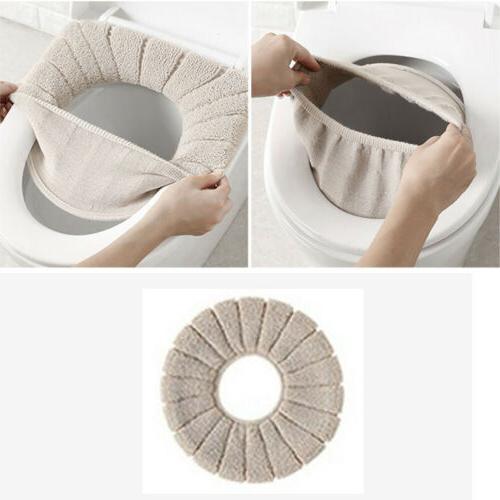 Home Bathroom Toilet Seat Washable Soft Mat