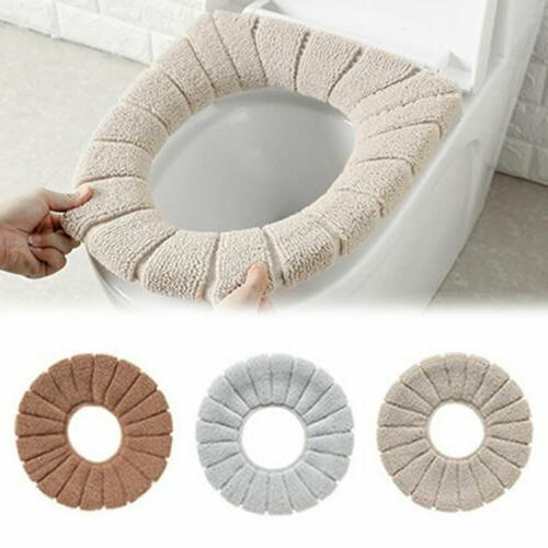 Home Bathroom Toilet Seat Washable Mat Cover US