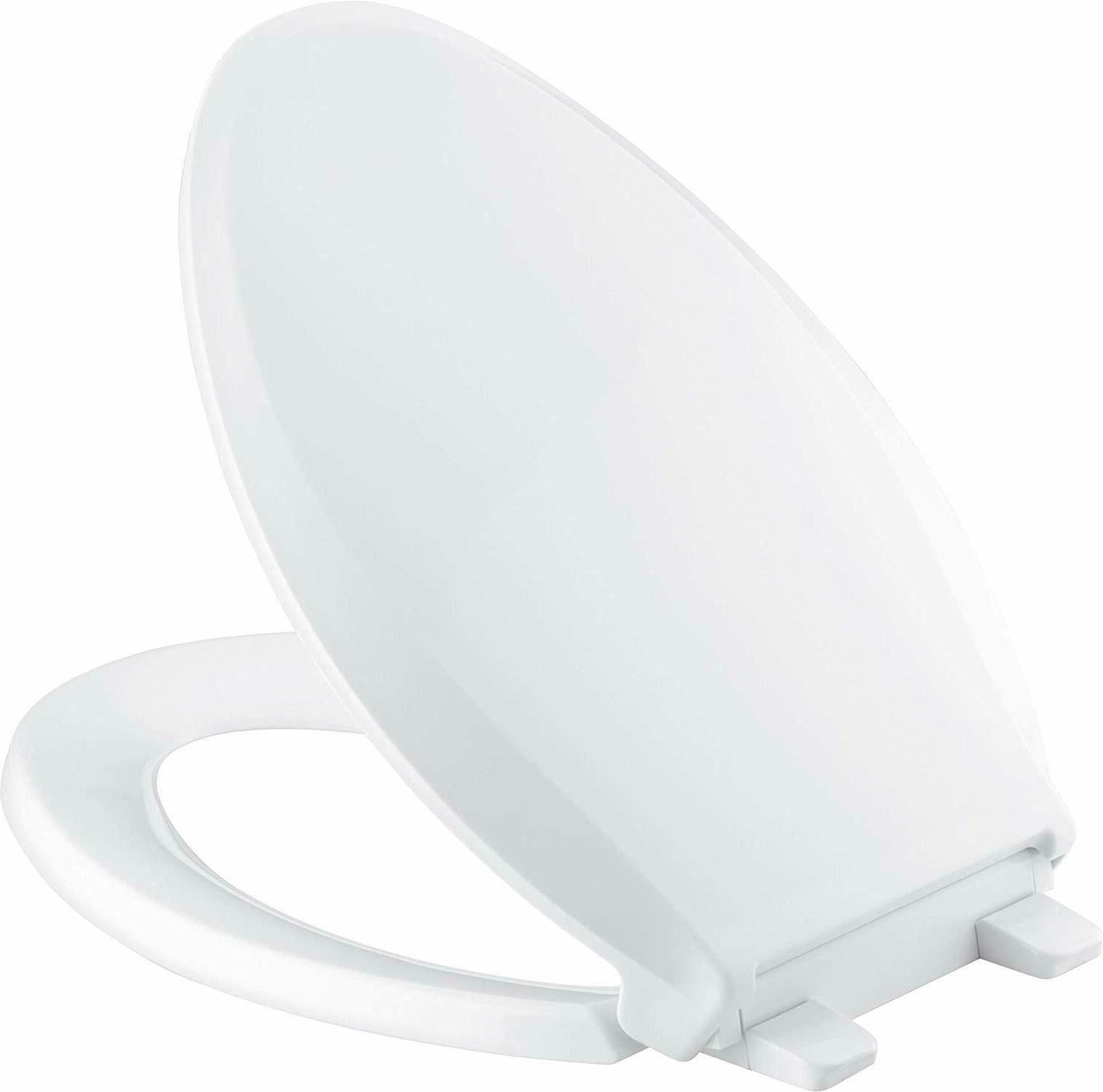 K-4636-0 Cachet Elongated White Toilet Seat, with Grip-Tight