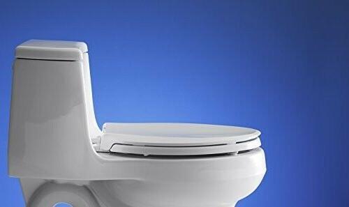KOHLER White Toilet Seat, with Grip-Tight Bumpers, Qui