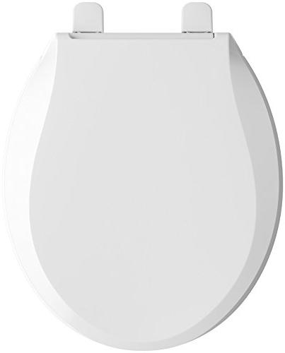 KOHLER Nightlight Quiet-Close Grip-Tight Round-Front Toilet Seat