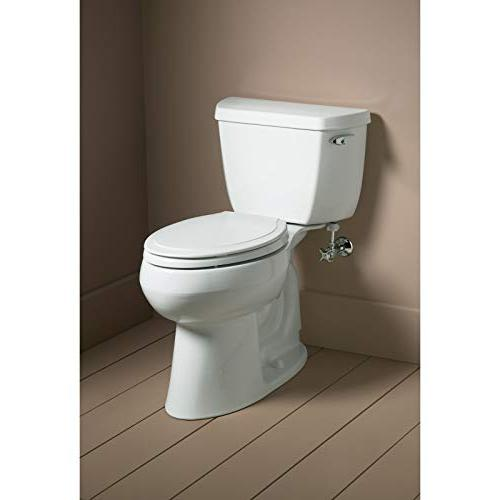 KOHLER White Toilet Seat, Grip-Tight Quiet-Close Quick-Release No
