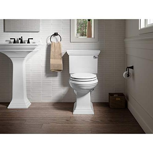 KOHLER K-4734-0 Elongated White Quick-Release No Seat