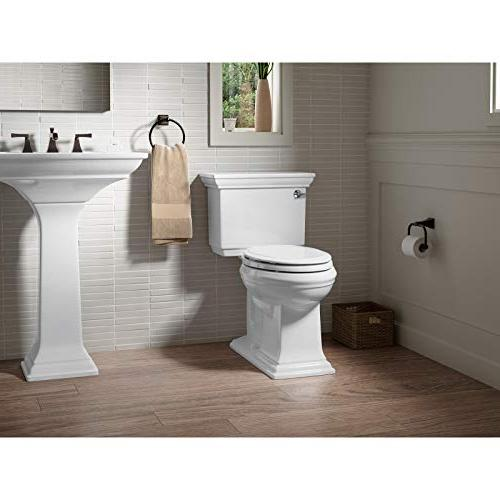 KOHLER White Toilet Seat, Grip-Tight Bumpers, Quick-Release Quick-Attach No Toilet