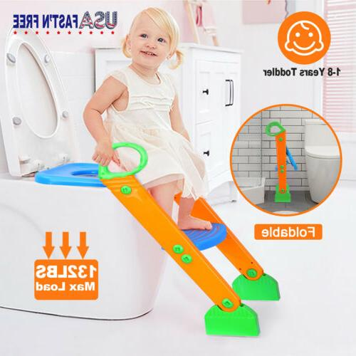 Potty Trainer Toilet Seat Chair Kids Toddler With Ladder Ste