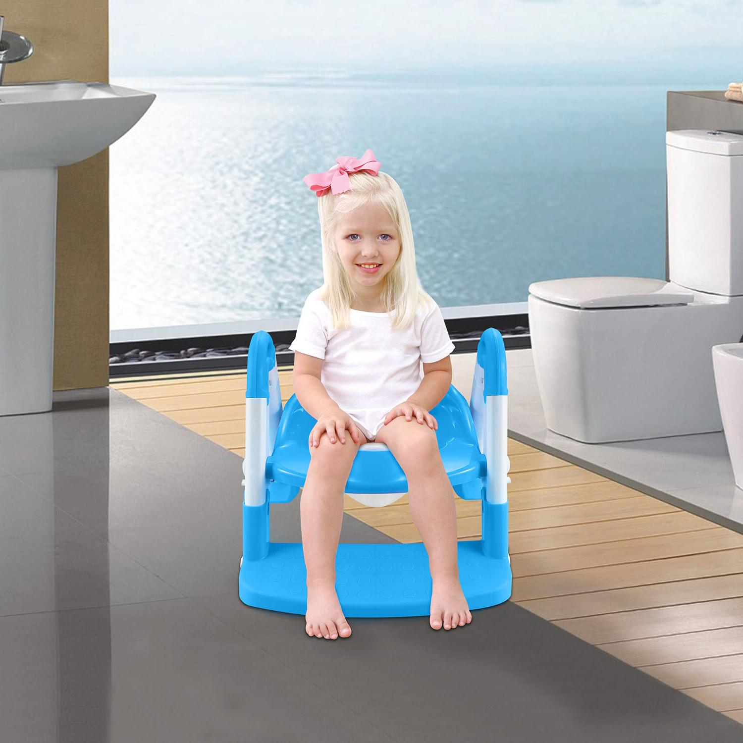 Kids Potty Seat with Step Stool for Child Chair