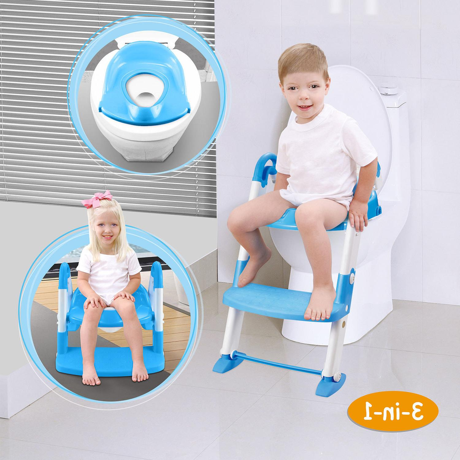 Kids Seat with Stool for Child Toilet Chair