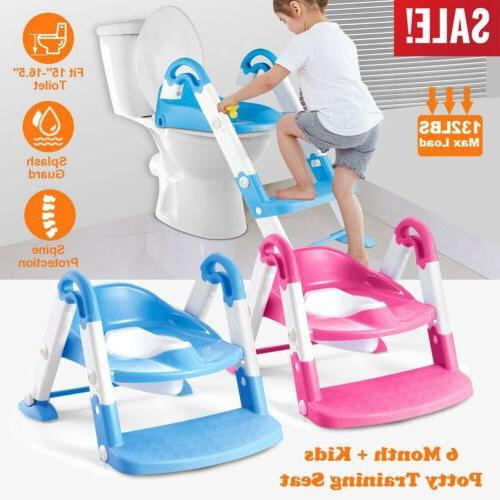 kids potty training seat with step stool