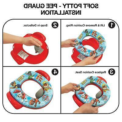 Kids Training Toilet Seat Padded Ring Toddler w/ Handles