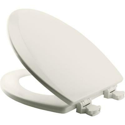 New BEMIS Lift-Off White Elongated Soft Hinges Closed Front