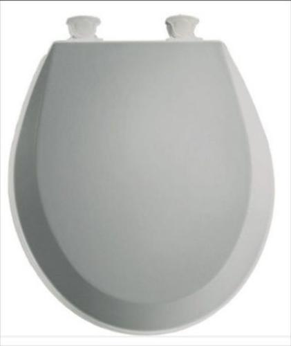 BEMIS Lift-Off Front Toilet Seat Ice Gray