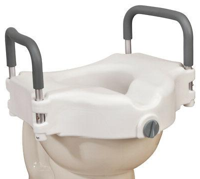 locking raised toilet seat with arms xl