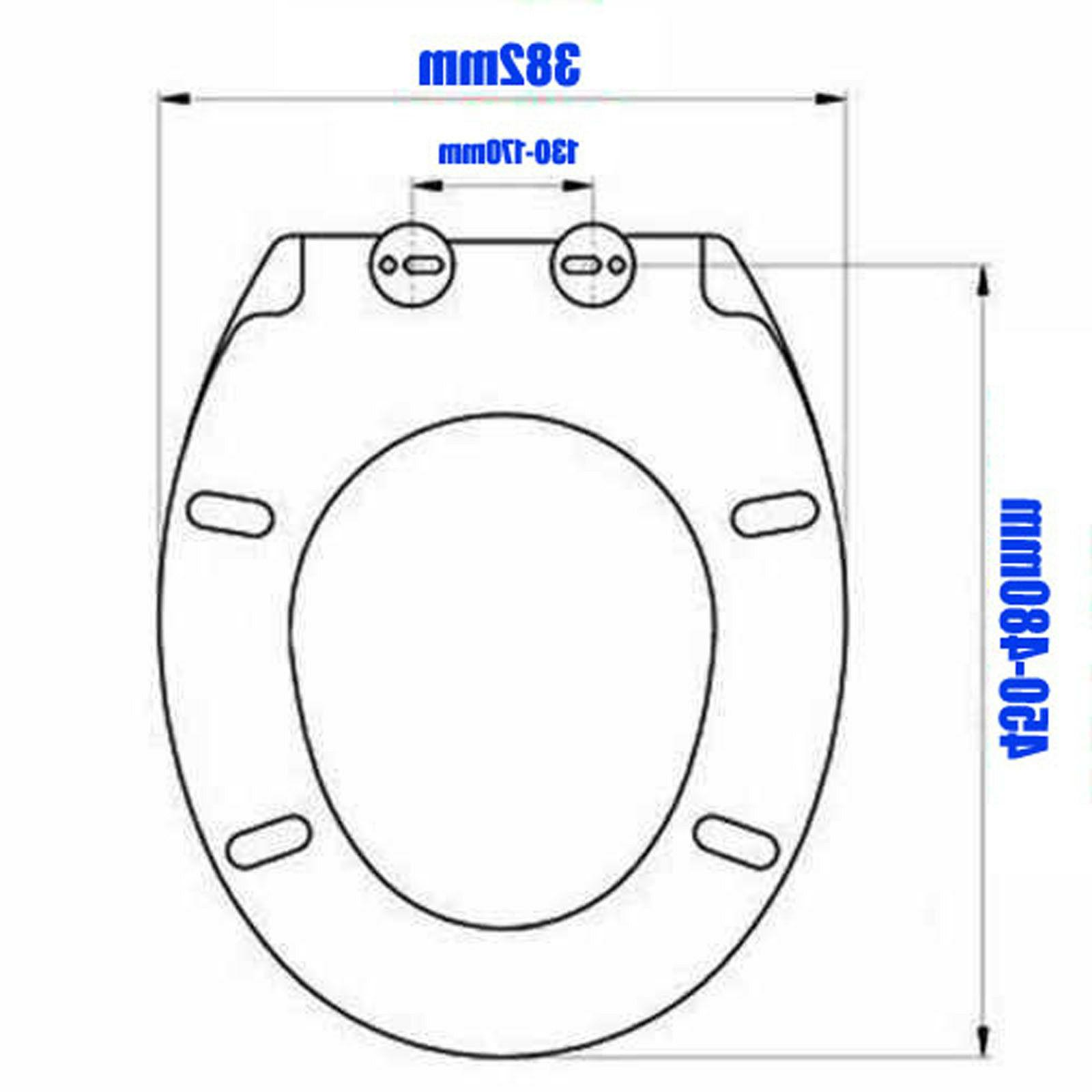 LUXURY SLOW CLOSE WHITE BATHROOM TOILET SEAT METAL HINGES