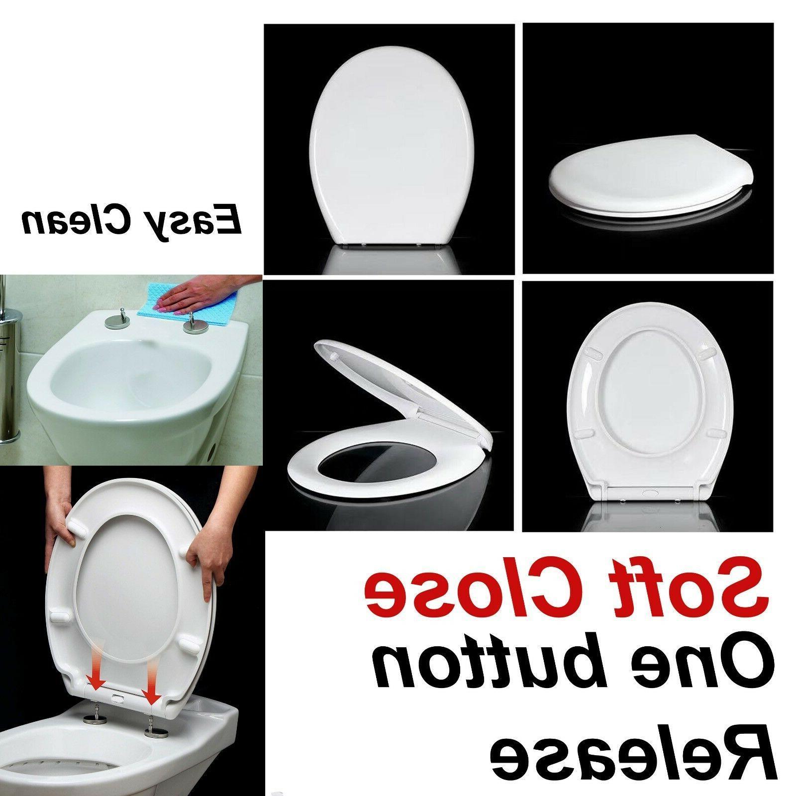 luxury slow soft close white oval bathroom