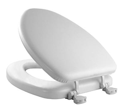 MAYFAIR Soft Toilet Seat Easily Remove, ELONGATED, Padded wi