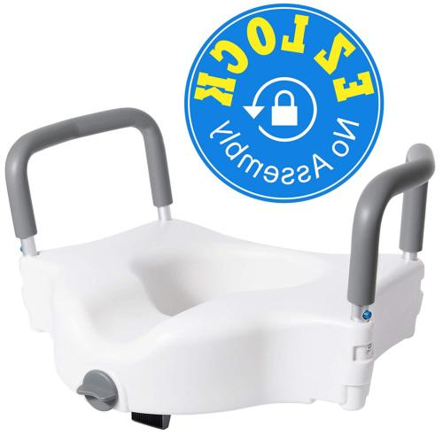 Vaunn Medical Elevated Raised Toilet Seat & Commode Booster