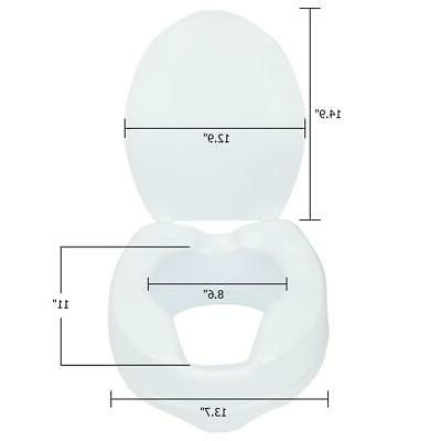 """Medical 4"""" Toilet Seat with White"""