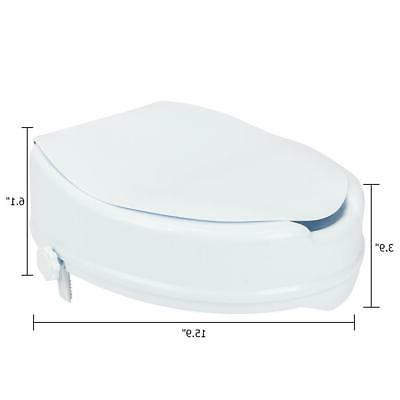 """Medical 4"""" Toilet with Cover White"""