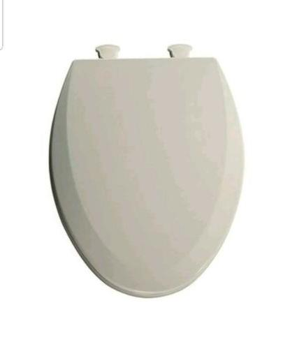 molded wood elongated toilet seat w easy