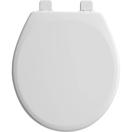 Mayfair Molded Toilet Seat featuring Slow-Close Hinge, Top-Tite Seat System Fit, White, 43SLOW 000