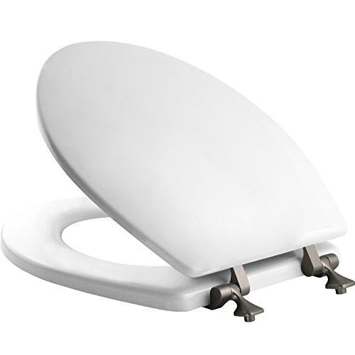 Molded Seat With Brushed Round, White Bemis