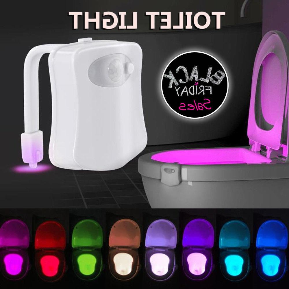 LED Motion Toilet Night Light Bowl Seat 8 Colors Body Sensin