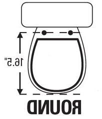 TOPSEAT 6TSBR0010NI 999 Toilet Seat, Hinges,